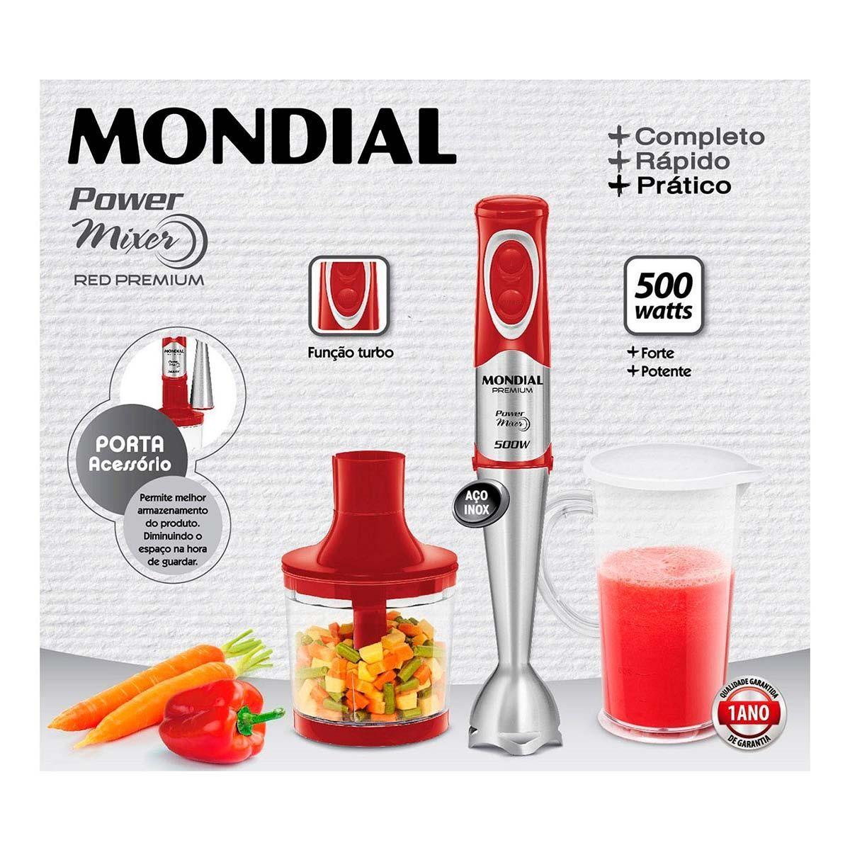 M-10 - Power Mixer RED Premium - Mondial - 110v