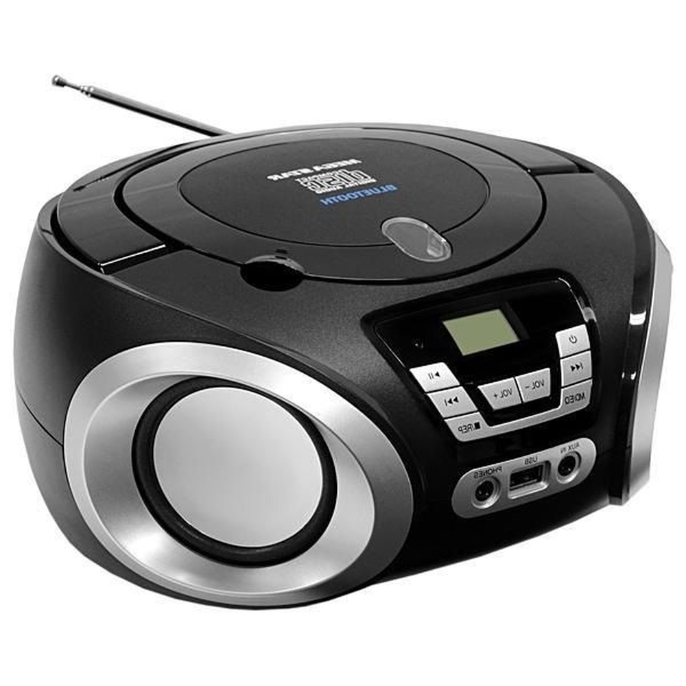 Micro System Rádio Mega Star Cd Bluetooth Fm Usb Portátil
