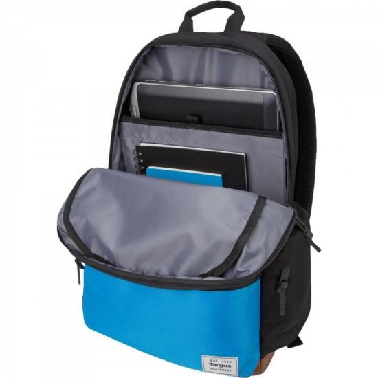 "Mochila para Notebook 15.6"" Strata II TSB936 Preto e Azul TA"
