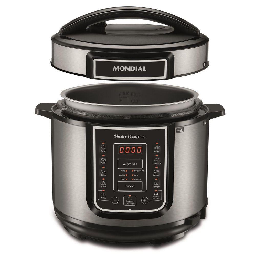 Panela de Pressão Elétrica Digital Mondial - Master Cooker  900W 5L Timer 220v