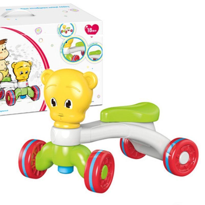 Quadriciclo Bebê Amarelo/ Branco  Equilíbrio 18 M+ Unisex 25 kg- Urso