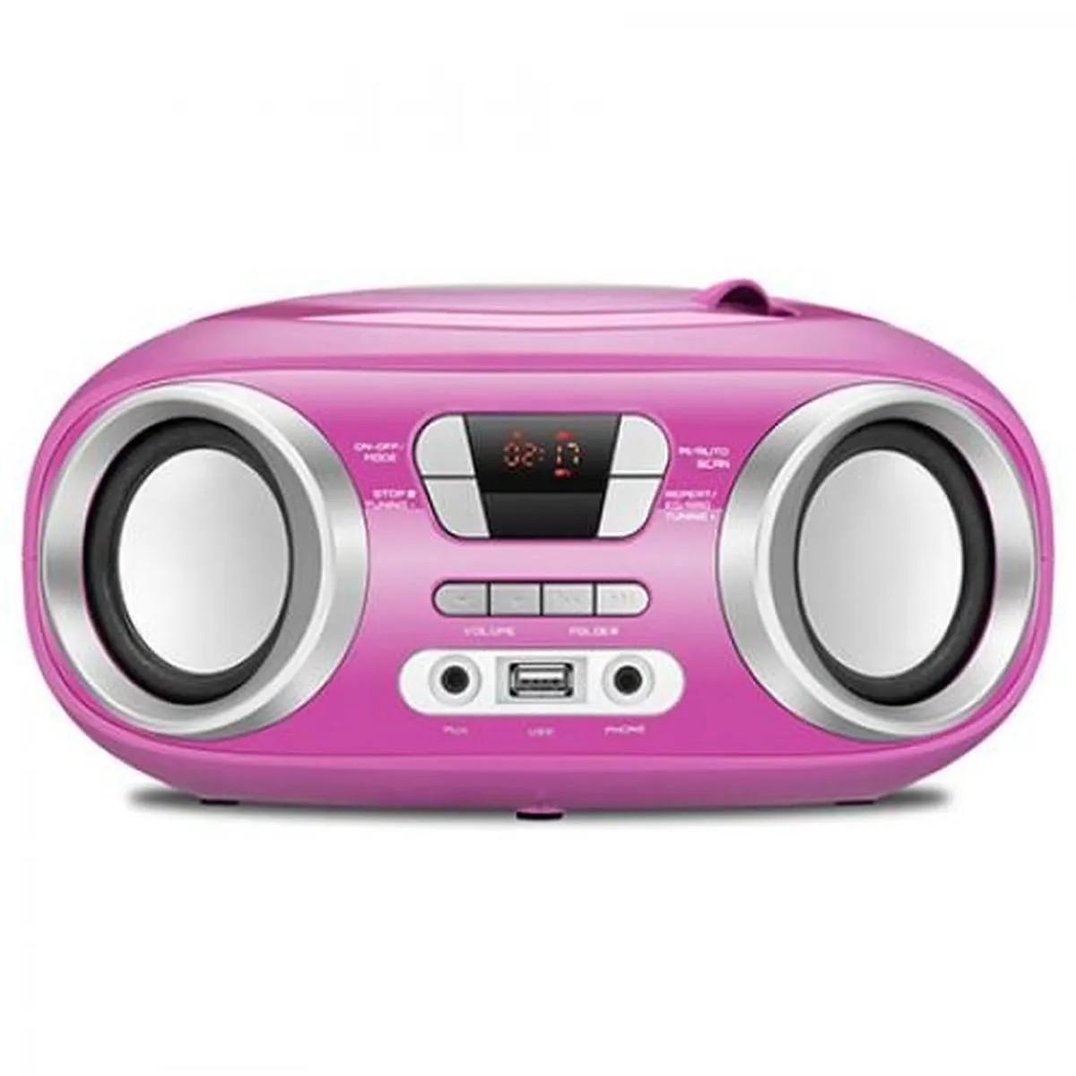 Rádio Boombox Mondial Rádio FM 6W RMS BX-15 Rosa - Bivolt