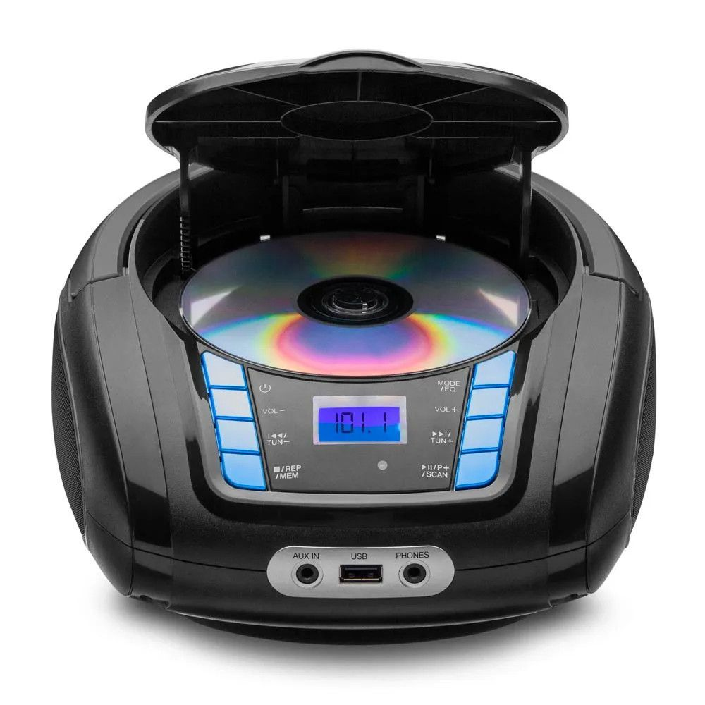 Rádio Boombox Sp338 Bluetooth Toca Cd Multilaser Mp3 Player