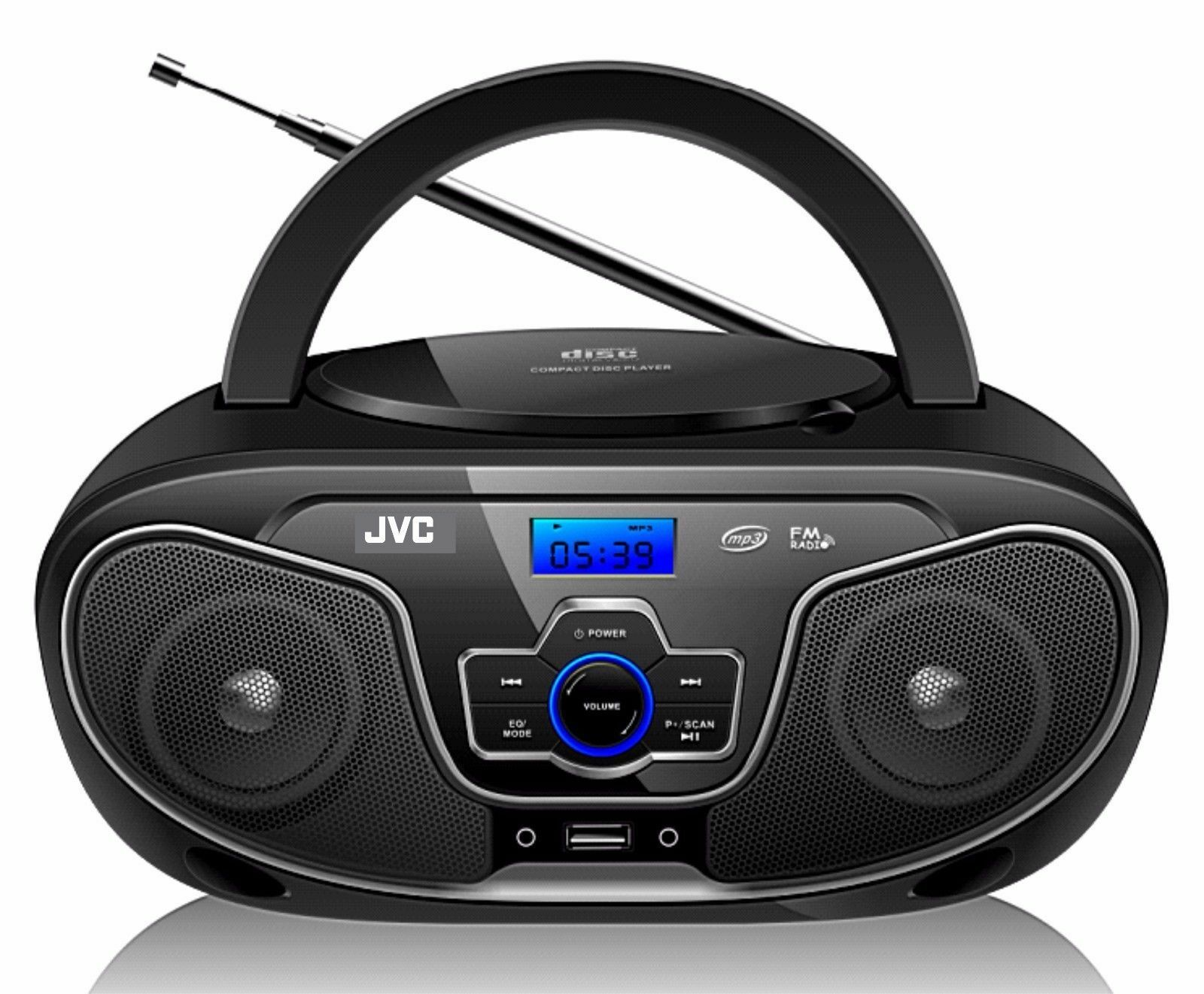 Rádio Portátil Bluetooth Cd Player Jvc Usb