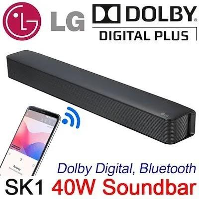 Soundbar LG SK1 40w RMS Cabo Óptico Bluetooth 2 Canais