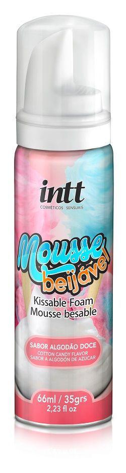 Mousse Beijável para Massagem- Algodão Doce - INTT