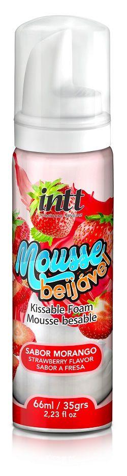 Mousse Beijável para massagem- Morango-  INTT