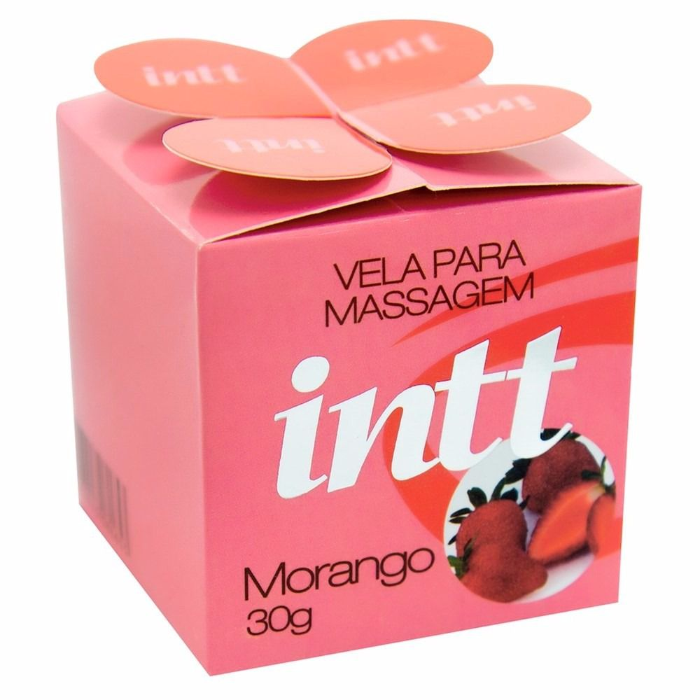 Vela beijável 30g - Morango- INTT
