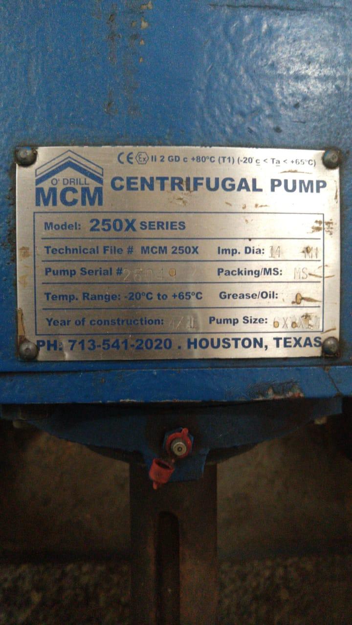 Bomba Centrífuga O'Drill MCM 6X8X14 250x Series