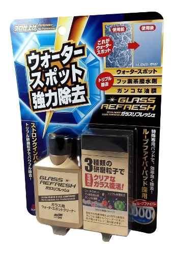 Removedor Mancha Em Vidros Glass Refresh Soft99 80ml