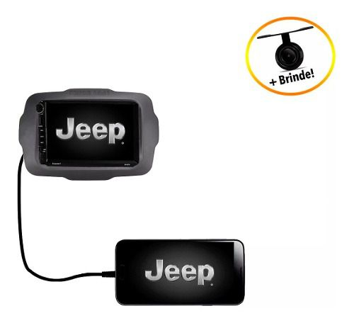 Central Multimídia Jeep Renegade Dvd Tv Bluetooth Câmera Pcd