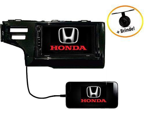 Central Multimídia Dvd Honda Fit 2014 Á 2019 Bluetooth Usb