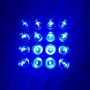 Farol De Led Azul Para Pulverizador 48w Lente 11cm - Par
