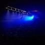 Par Farol De Led Azul Para Pulverizador 48w Lente 11cm