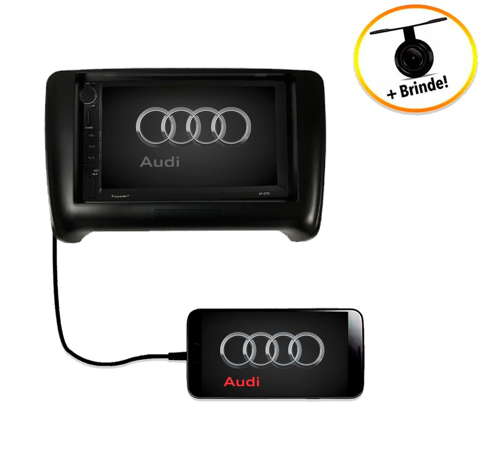 Central Multimídia Audi TT 2000 em diante TV Digital GPS Espelha IOS e Android