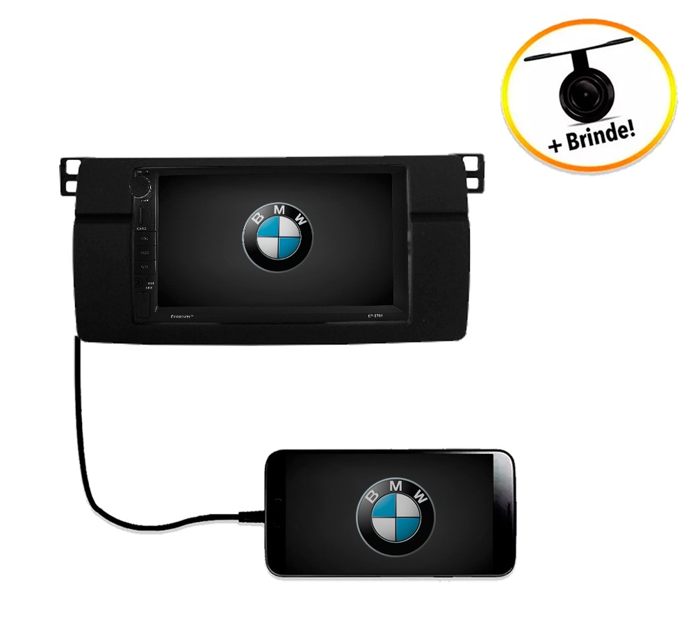 Central Multimídia BMW Série 3 E46 1998 à 2005 TV Digital GPS Espelha IOS e Android