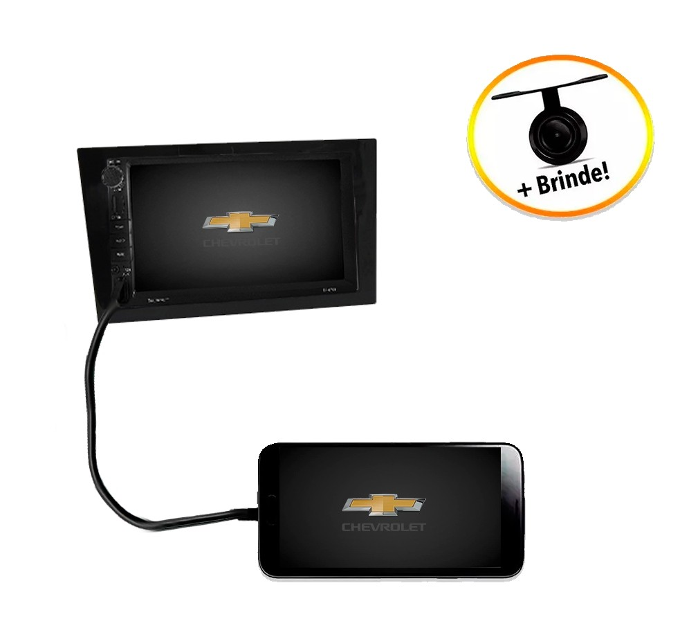 Central Multimídia Chevrolet Corsa 2002 à 2011 TV Digital GPS Espelha IOS e Android Moldura Black Piano