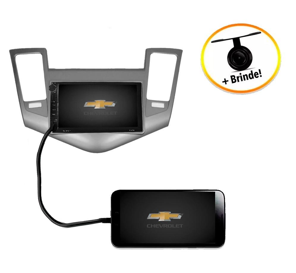 Central Multimídia Chevrolet Cruze 2011 à 2014 TV Digital GPS Espelha IOS e Android