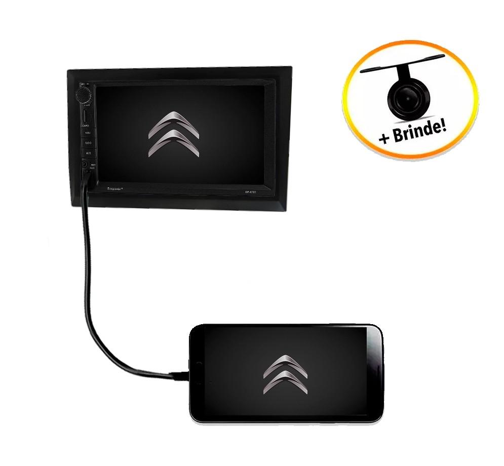 Central Multimídia Citröen C3 TV Digital GPS Espelha IOS e Android