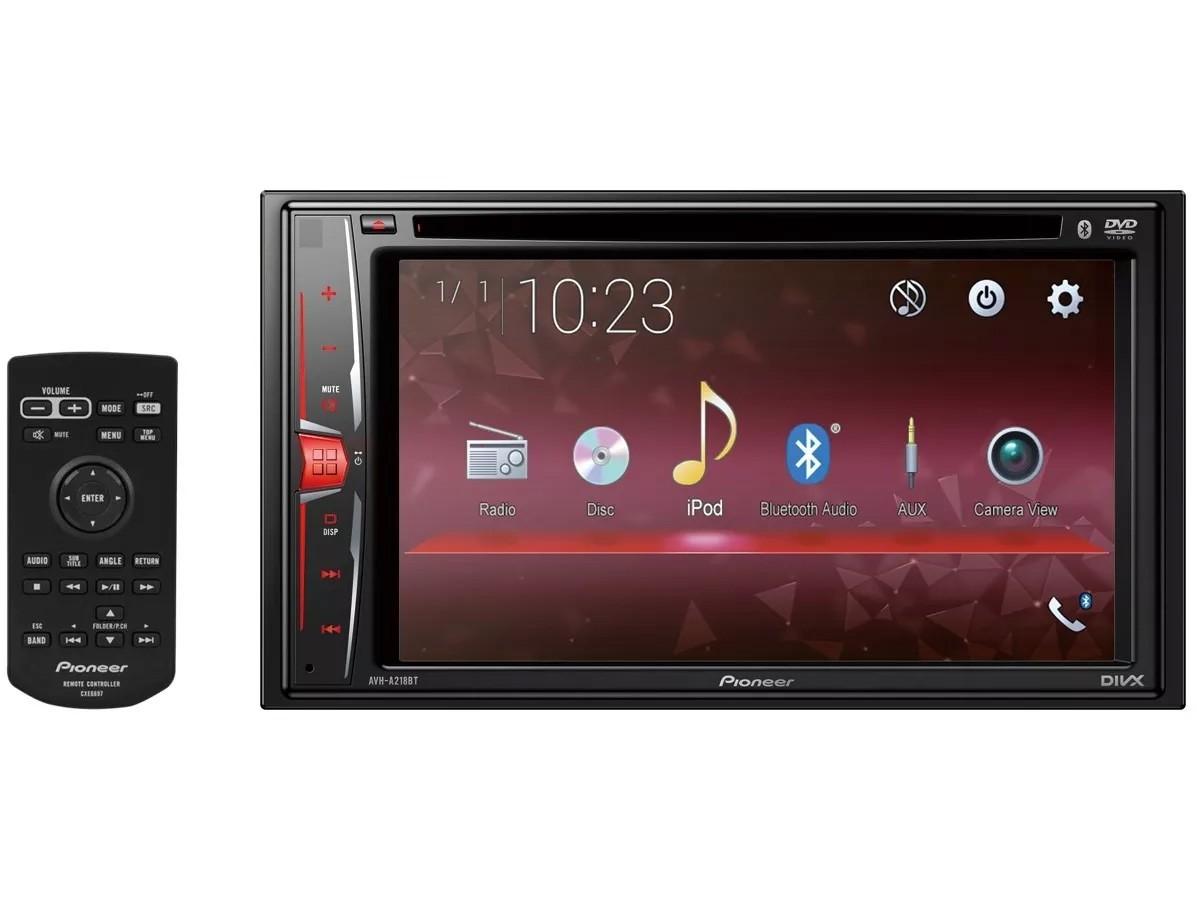 Central Multimídia DVD Player Pioneer AVH-A218BT 6,2 Polegadas