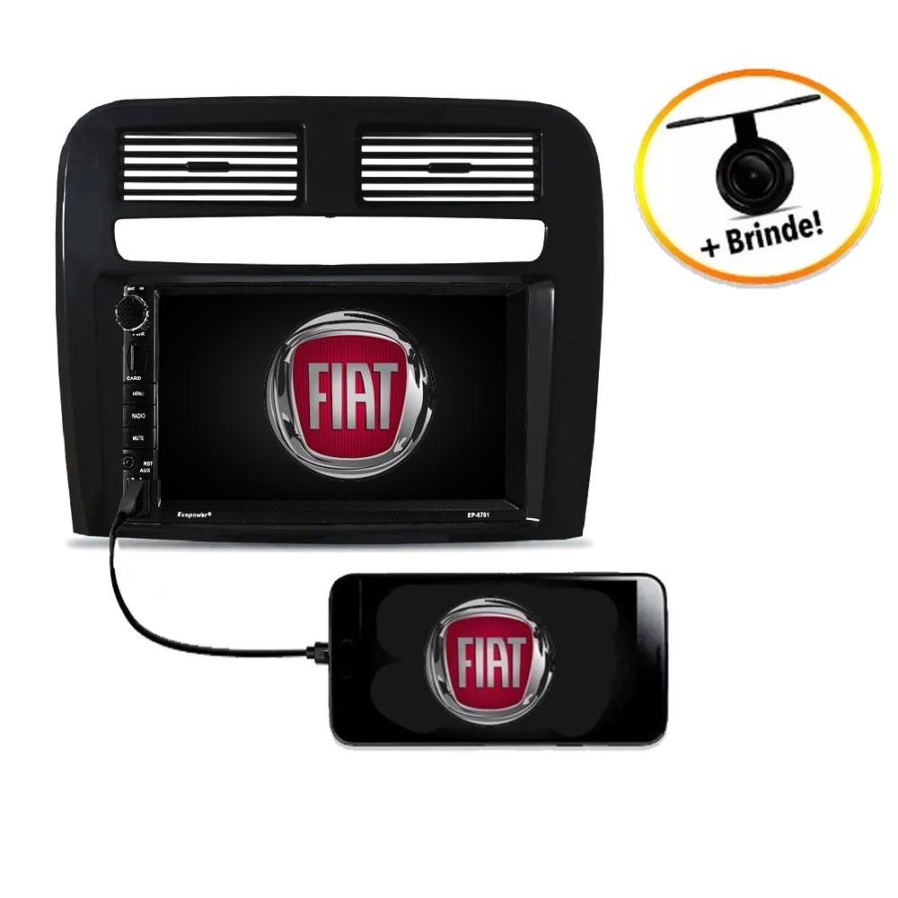 Central Multimídia Fiat Punto  2008 à 2012 TV Digital GPS Espelha IOS e Android