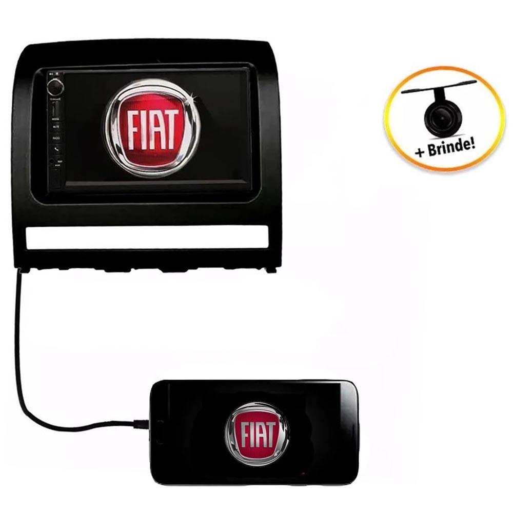 Central Multimídia Fiat Strada  2008 à 2012 TV Digital GPS Espelha IOS e Android