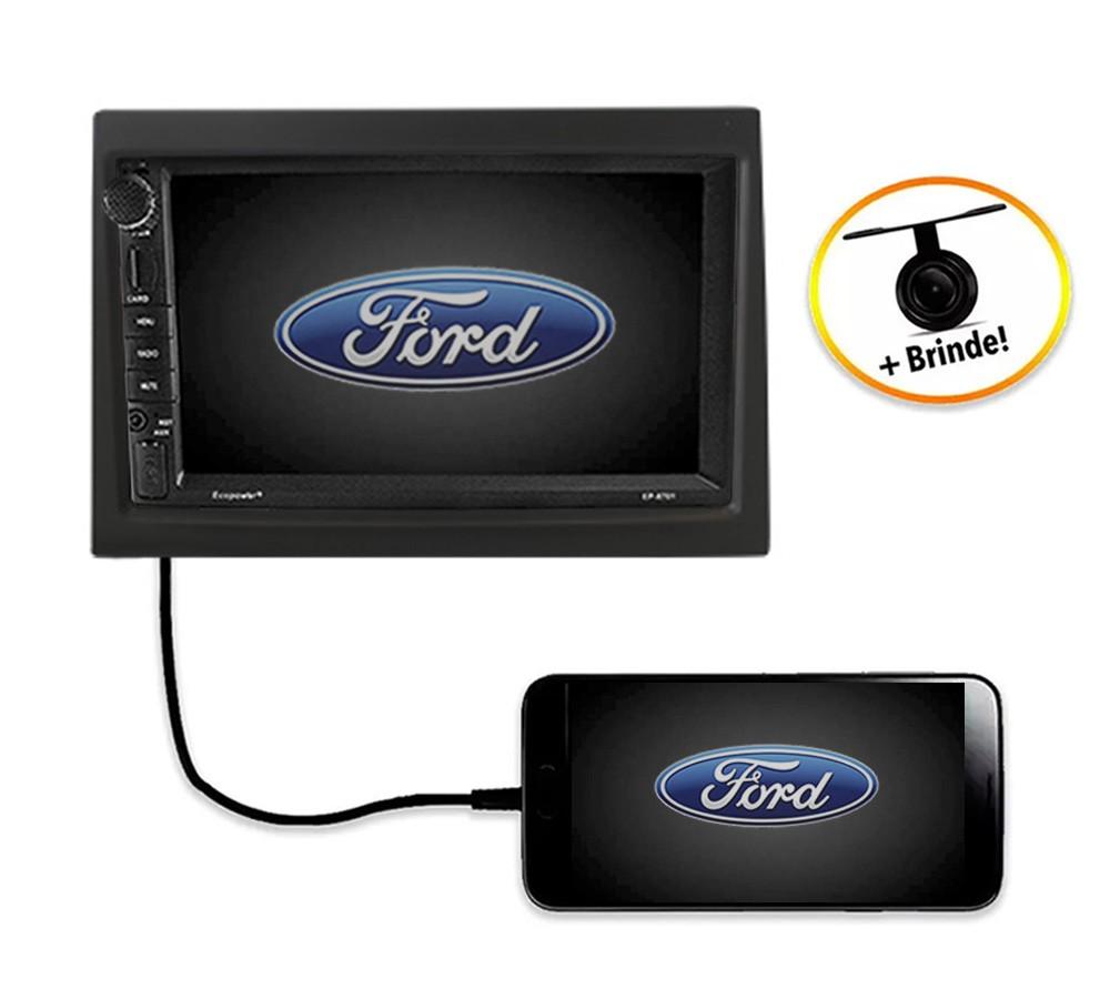 Central Multimídia FORD Transit TV Digital GPS Espelha IOS e Android