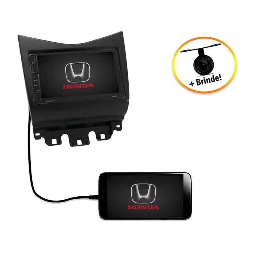 Central Multimídia Honda Accord 2003 à 2007 TV Digital GPS Espelha IOS e Android