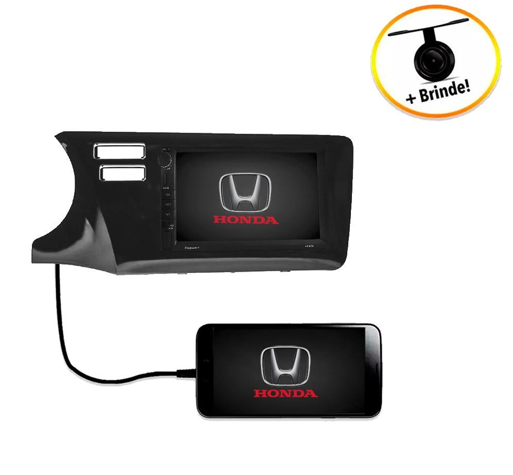 Central Multimídia Honda City 2015 à 2019 Com Botão Airbag Duplo TV Digital GPS Espelha IOS e Android