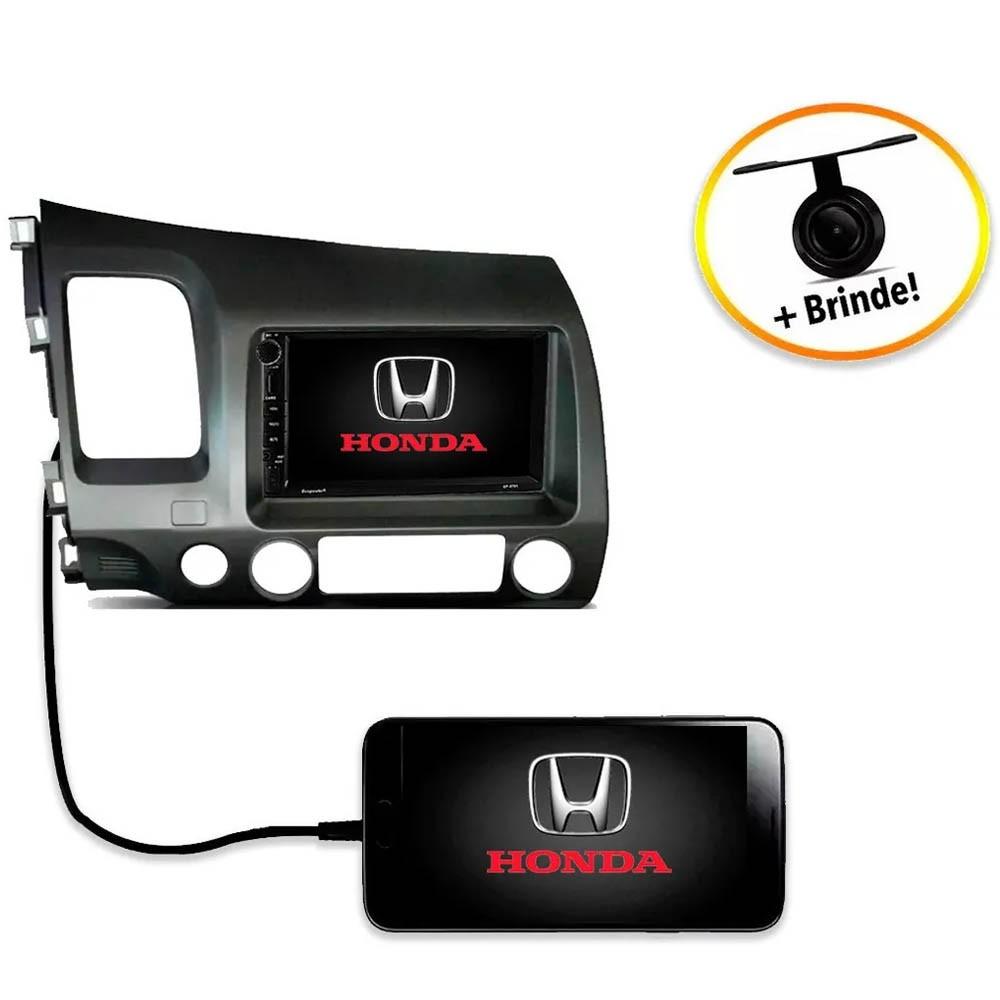 Central Multimídia Honda Civic 2007 à 2011 TV Digital GPS Espelha IOS e Android