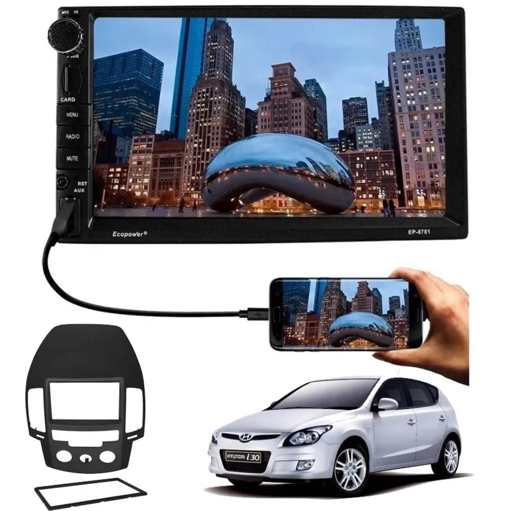 Central Multimídia Hyundai i30 2009 à 2012 Ar Analógico TV Digital GPS Espelha IOS e Android