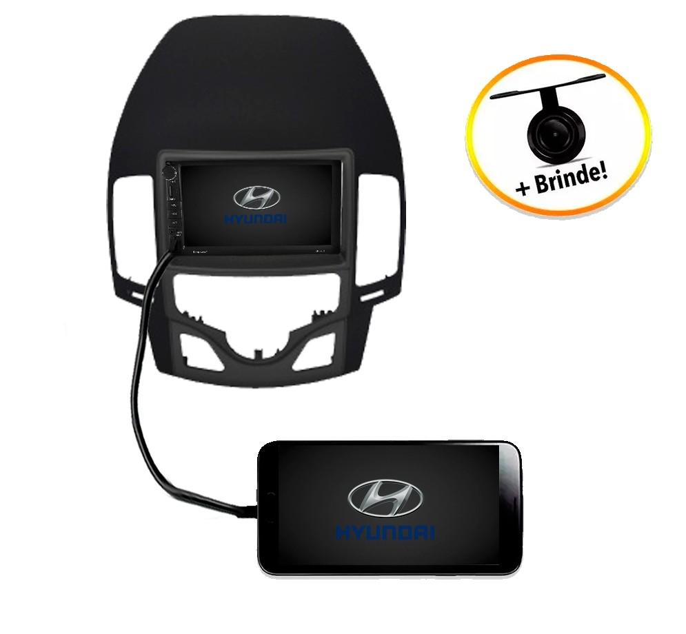 Central Multimídia Hyundai I30 2009 à 2012 Com Ar Digital TV Digital GPS Espelha IOS e Android