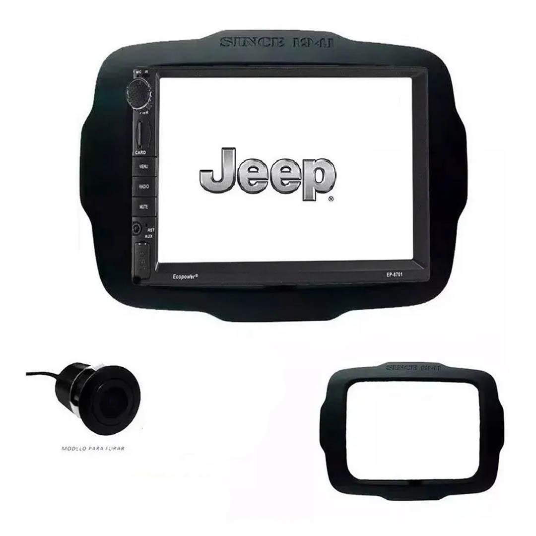 Central Multimídia Jeep Renegade 2015-2018 Com Espelhamento