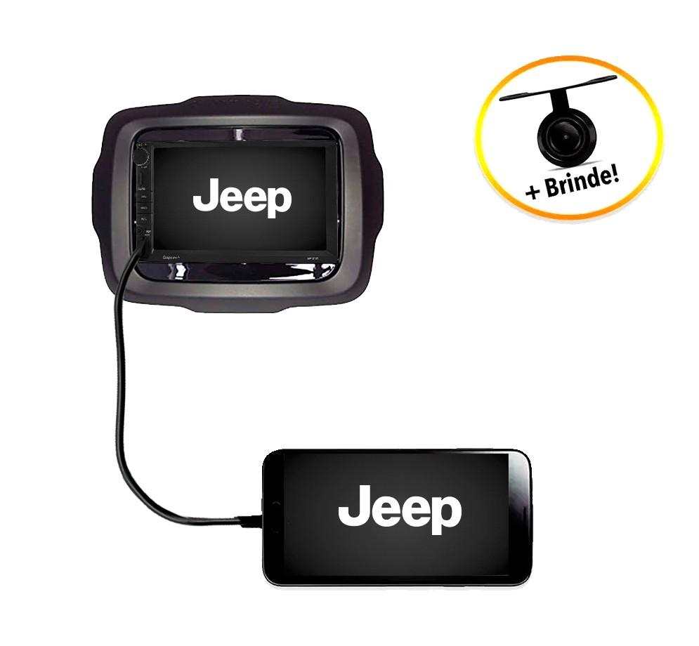 Central Multimídia Jeep Renegade PCD 2015 à 2018 TV Digital GPS Espelha IOS e Android