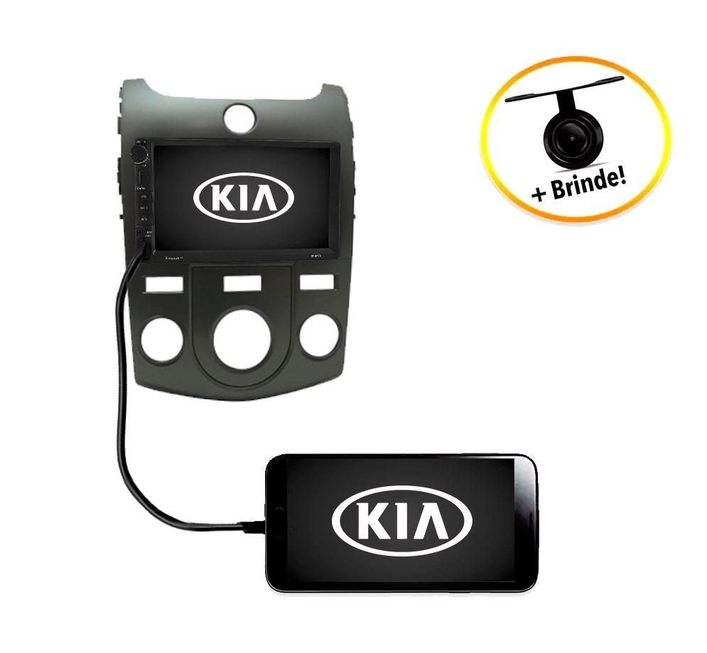 Central Multimídia Kia Cerato 2010 à 2012 Ar Analógico TV Digital GPS Espelha IOS e Android