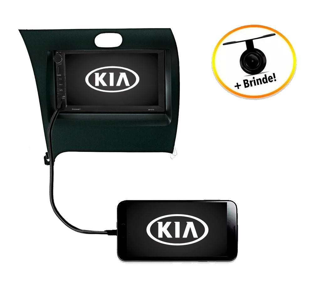 Central Multimídia Kia New Cerato 2014 à 2019 TV Digital GPS Espelha IOS e Android