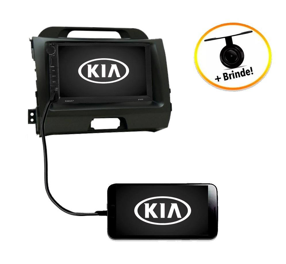 Central Multimídia Kia Sportage 2010 à 2015 TV Digital GPS Espelha IOS e Android