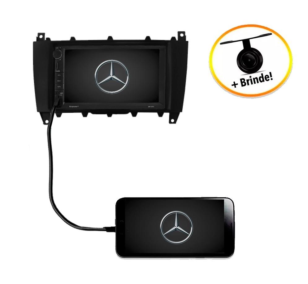 Central Multimídia Mercedes-Benz Classe C W203 TV Digital GPS Espelha IOS e Android
