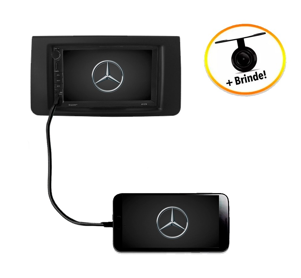 Central Multimídia Mercedes-Benz ML W164 TV Digital GPS Espelha IOS e Android