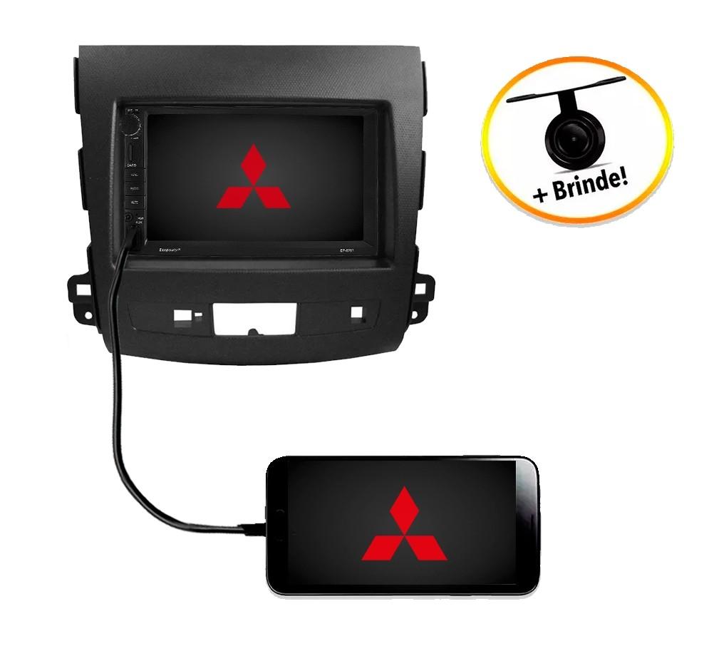 Central Multimídia Mitsubishi Outlander 2008 à 2012 TV Digital GPS Espelha IOS e Android