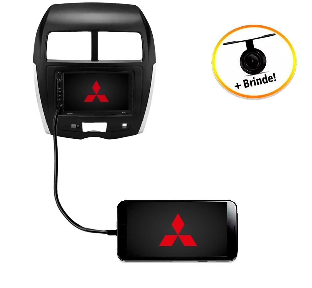 Central Multimídia Mitsubishi ASX Com Placas 2008 à 2013 TV Digital GPS Espelha IOS e Android