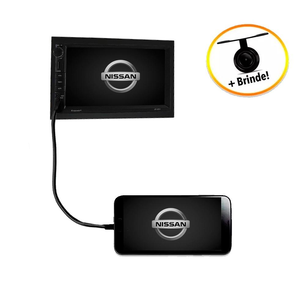 Central Multimídia Nissan Livina 2013 TV Digital GPS Espelha IOS e Android