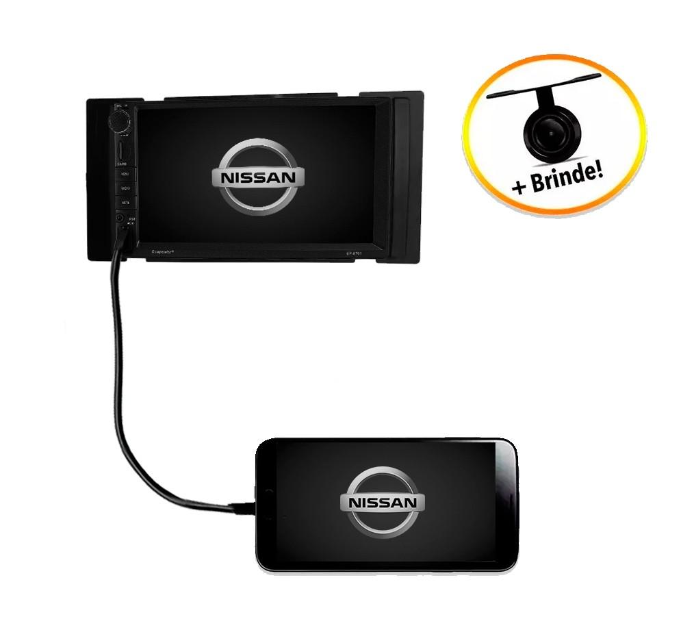 Central Multimídia Nissan Versa Sem Som Original 2014 à 2016 TV Digital GPS Espelha IOS e Android