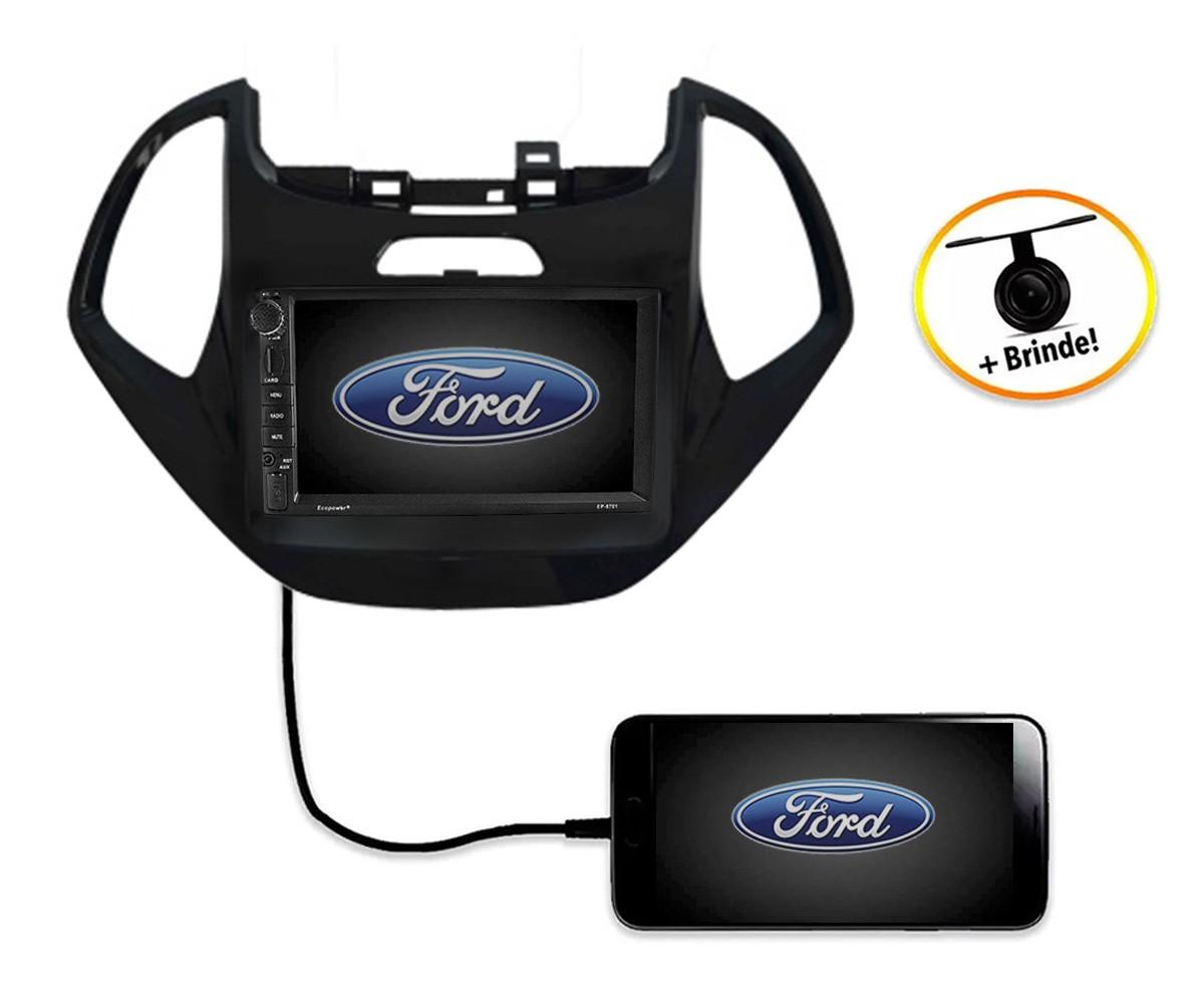 Central Multimídia Novo Ford KA TV Digital GPS Espelha IOS e Android