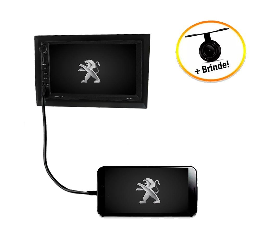 Central Multimídia Peugeot 307 TV Digital GPS Espelha IOS e Android