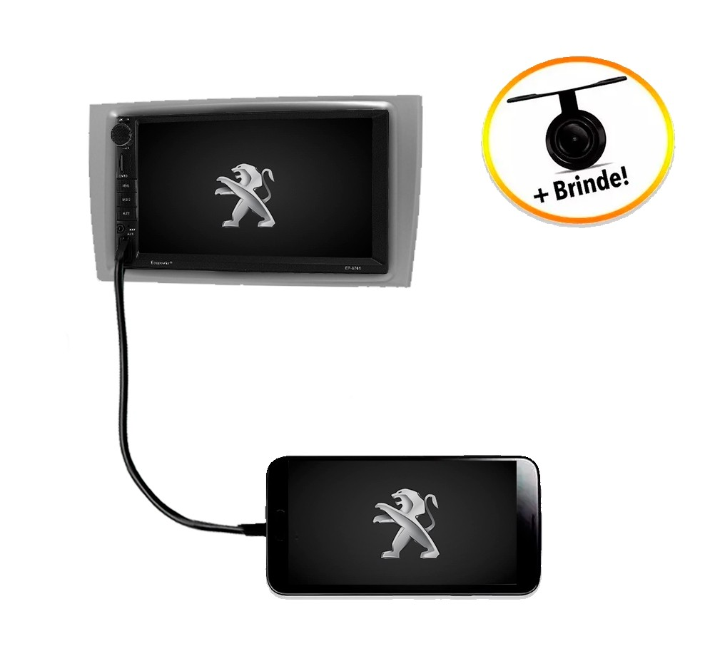 Central Multimídia Peugeot 308 TV Digital GPS Espelha IOS e Android