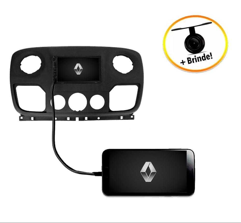 Central Multimídia Renault Master 2013 à 2019 TV Digital GPS Espelha IOS e Android