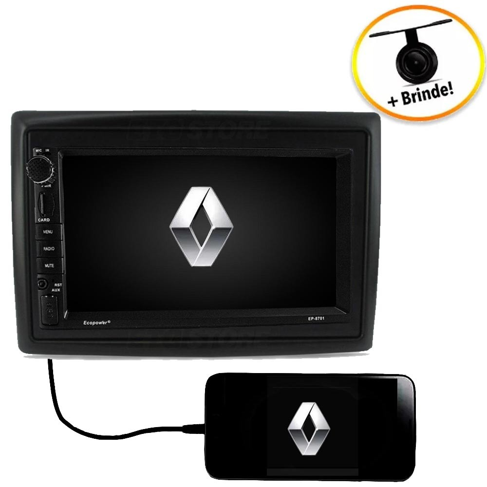 Central Multimídia Renault Megane TV Digital GPS Espelha IOS e Android