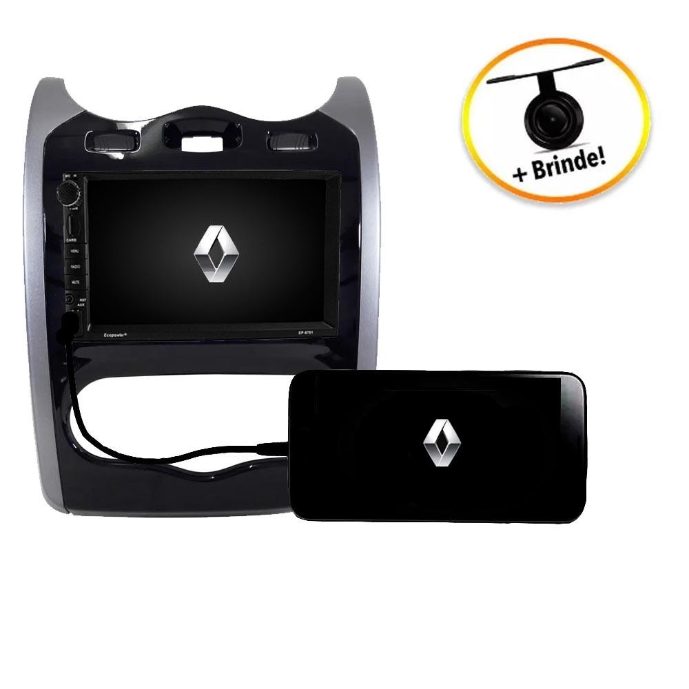 Central Multimídia Renault Sandero 2013 a 2014  TV Digital GPS Espelha IOS e Android