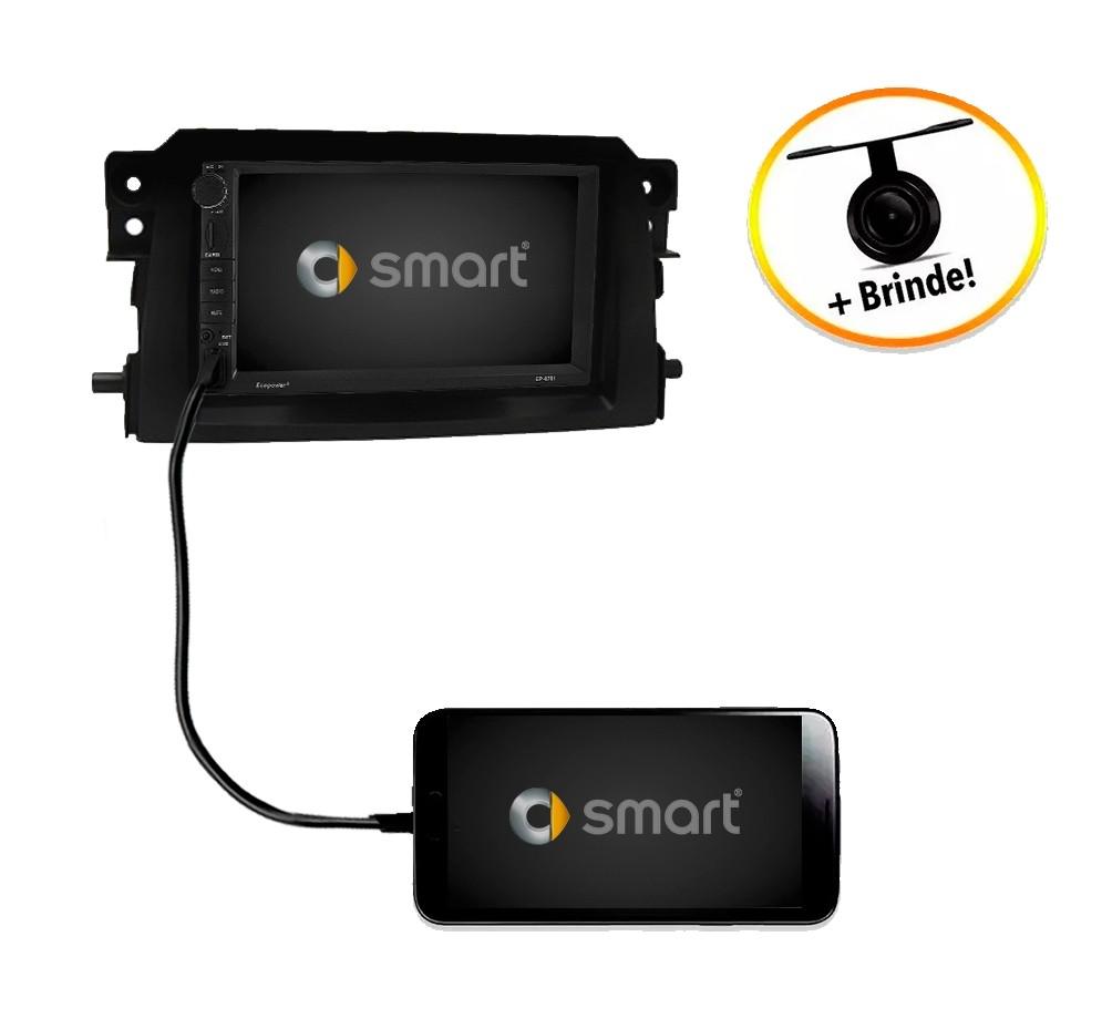 Central Multimídia Smart ForTwo 2011 TV Digital GPS Espelha IOS e Android